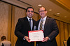 New Orleans, LA - AHA HBPR 2013 : Rodrigo Maranon recieves the HBPR Research Conference New Investigator award at the HBPR Council and Kindey in Cardiovascular Disease Awards Luncheon   at the American Heart Association High Blood Pressure Research (HBPR) Meeting here today, Friday September 13, 2013.  Physicians, researchers and healthcare professionals gathered at the meeting which is being held at the New Orleans Marriott to improve understanding of mechanisms of high blood pressure. Photo by © AHA/Todd Buchanan 2013 Technical Questions: todd@medmeetingiamges.com