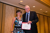 New Orleans, LA - AHA HBPR 2013 : Anne-Cecile Huby recieves the HBPR Research Conference New Investigator award at the HBPR Council and Kindey in Cardiovascular Disease Awards Luncheon   at the American Heart Association High Blood Pressure Research (HBPR) Meeting here today, Friday September 13, 2013.  Physicians, researchers and healthcare professionals gathered at the meeting which is being held at the New Orleans Marriott to improve understanding of mechanisms of high blood pressure. Photo by © AHA/Todd Buchanan 2013 Technical Questions: todd@medmeetingiamges.com