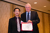 New Orleans, LA - AHA HBPR 2013 : Hanjun Wang recieves the HBPR Research Conference New Investigator award at the HBPR Council and Kindey in Cardiovascular Disease Awards Luncheon   at the American Heart Association High Blood Pressure Research (HBPR) Meeting here today, Friday September 13, 2013.  Physicians, researchers and healthcare professionals gathered at the meeting which is being held at the New Orleans Marriott to improve understanding of mechanisms of high blood pressure. Photo by © AHA/Todd Buchanan 2013 Technical Questions: todd@medmeetingiamges.com