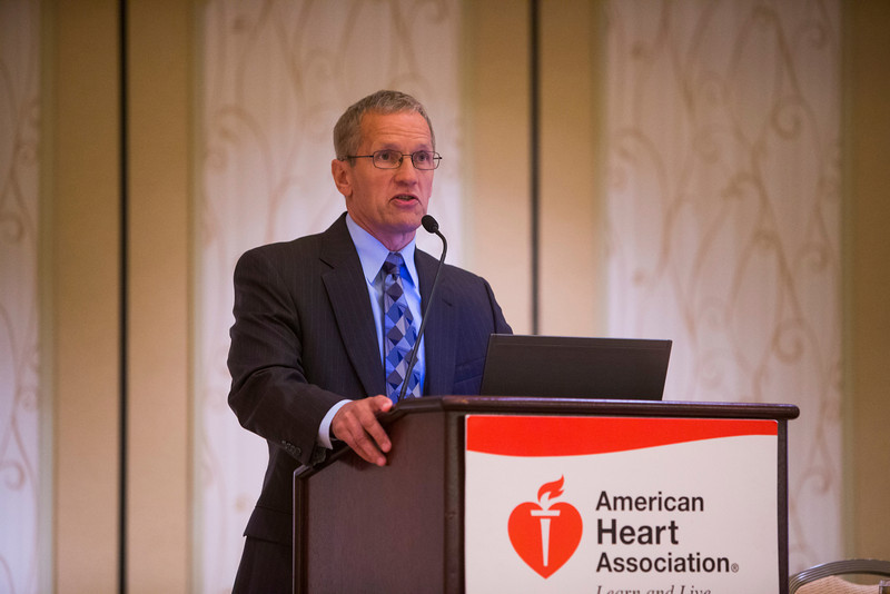 New Orleans, LA - AHA HBPR 2013 : Dr. Gregory Fink, Chair of the Council for High Blood Pressure Research, gives the Chair's Report    at the American Heart Association High Blood Pressure Research (HBPR) Meeting here today, Thursday September 12, 2013.  Physicians, researchers and healthcare professionals gathered at the meeting which is being held at the New Orleans Marriott to improve understanding of mechanisms of high blood pressure. Photo by © AHA/Todd Buchanan 2013 Technical Questions: todd@medmeetingiamges.com