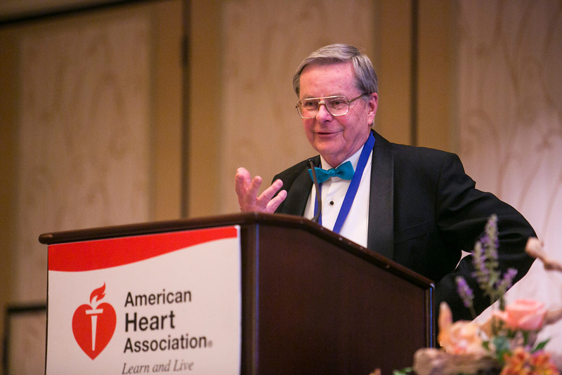 New Orleans, LA - AHA HBPR 2013 : Dr. Gregory Fink offers a toast at the reception to honor Dr. Murray Esler, MBBS, PhD is honored with the 2013 Excellence Award for Hypertension Research    at the American Heart Association High Blood Pressure Research (HBPR) Meeting here today, Friday September 13, 2013.  Physicians, researchers and healthcare professionals gathered at the meeting which is being held at the New Orleans Marriott to improve understanding of mechanisms of high blood pressure. Photo by © AHA/Todd Buchanan 2013 Technical Questions: todd@medmeetingiamges.com