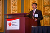 "Las Vegas, NV - AHA BCVS 2013 : Qing Jing, MD, PhD, FAHA discusses ""microRNA Regulation and Function in Cardiovascular Diseases"" during the   Chinese Symposia: Genes and Genetics of Heart Disease at the American Heart Association Basic Cardiovascular Sciences (BCVS) Meeting here today, Monday July 22, 2013.  Physicians, researchers and healthcare professionals gathered at the meeting which is being held at the Paris Hotel to improve understanding of mechanisms of basic cardiovascular regulation to support the development of new therapies and new insights into clinical cardiovascular disease. Photo by © AHA/Todd Buchanan 2013 Technical Questions: todd@medmeetingiamges.com"
