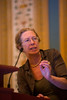 "Las Vegas, NV - AHA BCVS 2013 : Karin R Sipido, MD, PhD discusses ""Calcium Microdomains and Synchrony of Sarcoplasmic Reticulum Calcium Release"" during the European Symposia: MicroRNAs and Beyond session at the American Heart Association Basic Cardiovascular Sciences (BCVS) Meeting here today, Monday July 22, 2013.  Physicians, researchers and healthcare professionals gathered at the meeting which is being held at the Paris Hotel to improve understanding of mechanisms of basic cardiovascular regulation to support the development of new therapies and new insights into clinical cardiovascular disease. Photo by © AHA/Todd Buchanan 2013 Technical Questions: todd@medmeetingiamges.com"
