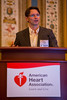 "Las Vegas, NV - AHA BCVS 2013 : Dr. Manuel Mayr, MD PhD discusses ""MicroRNAs within the Continuum of Postgenomics Biomarker Discovery"" during the European Symposia: MicroRNAs and Beyond session at the American Heart Association Basic Cardiovascular Sciences (BCVS) Meeting here today, Monday July 22, 2013.  Physicians, researchers and healthcare professionals gathered at the meeting which is being held at the Paris Hotel to improve understanding of mechanisms of basic cardiovascular regulation to support the development of new therapies and new insights into clinical cardiovascular disease. Photo by © AHA/Todd Buchanan 2013 Technical Questions: todd@medmeetingiamges.com"