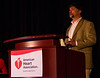 Las Vegas, NV - AHA BCVS 2013 : Joshua M. Hare, MD, FAHA speaks   at the American Heart Association Basic Cardiovascular Sciences (BCVS) Meeting here today, Thursday July 25, 2013.  Physicians, researchers and healthcare professionals gathered at the meeting which is being held at the Paris Hotel to improve understanding of mechanisms of basic cardiovascular regulation to support the development of new therapies and new insights into clinical cardiovascular disease. Photo by © AHA/Todd Buchanan 2013 Technical Questions: todd@medmeetingiamges.com