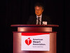 Las Vegas, NV - AHA BCVS 2013 : Junichi Sadoshima, MD, PhD, FAHA speaks   at the American Heart Association Basic Cardiovascular Sciences (BCVS) Meeting here today, Thursday July 25, 2013.  Physicians, researchers and healthcare professionals gathered at the meeting which is being held at the Paris Hotel to improve understanding of mechanisms of basic cardiovascular regulation to support the development of new therapies and new insights into clinical cardiovascular disease. Photo by © AHA/Todd Buchanan 2013 Technical Questions: todd@medmeetingiamges.com