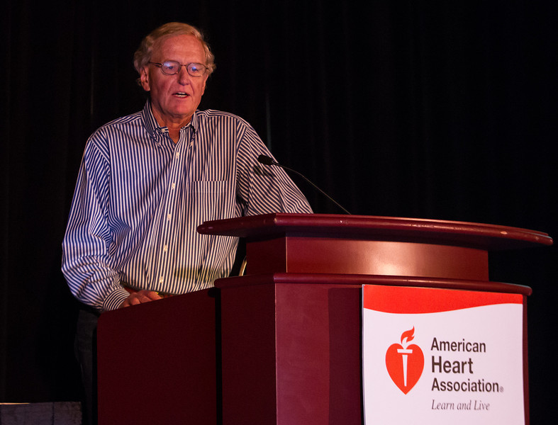 Las Vegas, NV - AHA BCVS 2013 : Thomas L. Force, MD speaks   at the American Heart Association Basic Cardiovascular Sciences (BCVS) Meeting here today, Thursday July 25, 2013.  Physicians, researchers and healthcare professionals gathered at the meeting which is being held at the Paris Hotel to improve understanding of mechanisms of basic cardiovascular regulation to support the development of new therapies and new insights into clinical cardiovascular disease. Photo by © AHA/Todd Buchanan 2013 Technical Questions: todd@medmeetingiamges.com