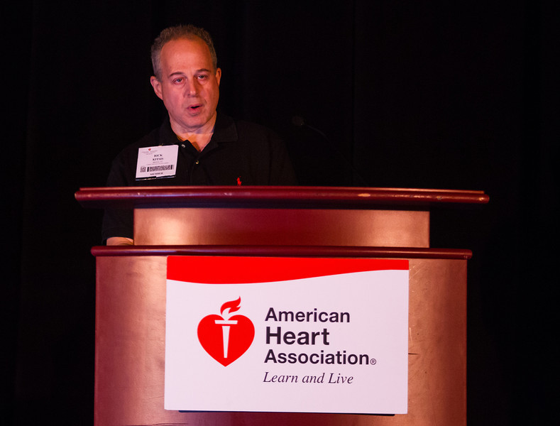 Las Vegas, NV - AHA BCVS 2013 : Richard Kitsis, MD, FAHA speaks   at the American Heart Association Basic Cardiovascular Sciences (BCVS) Meeting here today, Thursday July 25, 2013.  Physicians, researchers and healthcare professionals gathered at the meeting which is being held at the Paris Hotel to improve understanding of mechanisms of basic cardiovascular regulation to support the development of new therapies and new insights into clinical cardiovascular disease. Photo by © AHA/Todd Buchanan 2013 Technical Questions: todd@medmeetingiamges.com