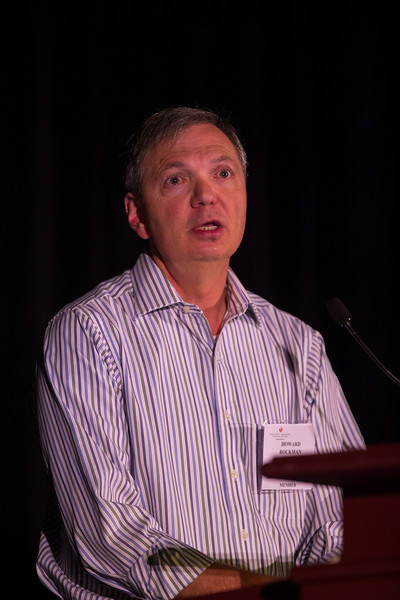 """Las Vegas, NV - AHA BCVS 2013 : Howard Rockman, MD discusses """"Development of Biased GPCR Ligands for Heart Failure"""" during the  Signaling in Heart Failure session at the American Heart Association Basic Cardiovascular Sciences (BCVS) Meeting here today, Tuesday July 23, 2013.  Physicians, researchers and healthcare professionals gathered at the meeting which is being held at the Paris Hotel to improve understanding of mechanisms of basic cardiovascular regulation to support the development of new therapies and new insights into clinical cardiovascular disease. Photo by © AHA/Todd Buchanan 2013 Technical Questions: todd@medmeetingiamges.com"""
