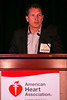 """Las Vegas, NV - AHA BCVS 2013 : Patrick Most, MD discusses """"Inotropic S100A1-derived peptides : From Basic Mechanisms to Clinical Translation"""" during the  Targets for Heart Therapy session during the American Heart Association Basic Cardiovascular Sciences (BCVS) Meeting here today, Wednesday July 24, 2013.  Physicians, researchers and healthcare professionals gathered at the meeting which is being held at the Paris Hotel to improve understanding of mechanisms of basic cardiovascular regulation to support the development of new therapies and new insights into clinical cardiovascular disease. Photo by © AHA/Todd Buchanan 2013 Technical Questions: todd@medmeetingiamges.com"""