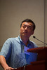 "Las Vegas, NV - AHA BCVS 2013 : Yibin Wang, PhD discusses ""Blind dates in science: learning to deal with rejection in peer review""  Early Career Development Workshop/Lunch session at the American Heart Association Basic Cardiovascular Sciences (BCVS) Meeting here today, Wednesday July 24, 2013.  Physicians, researchers and healthcare professionals gathered at the meeting which is being held at the Paris Hotel to improve understanding of mechanisms of basic cardiovascular regulation to support the development of new therapies and new insights into clinical cardiovascular disease. Photo by © AHA/Todd Buchanan 2013 Technical Questions: todd@medmeetingiamges.com"