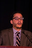 """Las Vegas, NV - AHA BCVS 2013 : Jack Rubinstein, MD discusses """"Transient Receptor Potential Vanilloid 2 (TRPV2) contributes to myocardial contractility and hypertrophy via sarcoplasmic reticulum calcium handling"""" during the   Outstanding Early Career Investigator Award Finalists session during the American Heart Association Basic Cardiovascular Sciences (BCVS) Meeting here today, Wednesday July 24, 2013.  Physicians, researchers and healthcare professionals gathered at the meeting which is being held at the Paris Hotel to improve understanding of mechanisms of basic cardiovascular regulation to support the development of new therapies and new insights into clinical cardiovascular disease. Photo by © AHA/Todd Buchanan 2013 Technical Questions: todd@medmeetingiamges.com"""