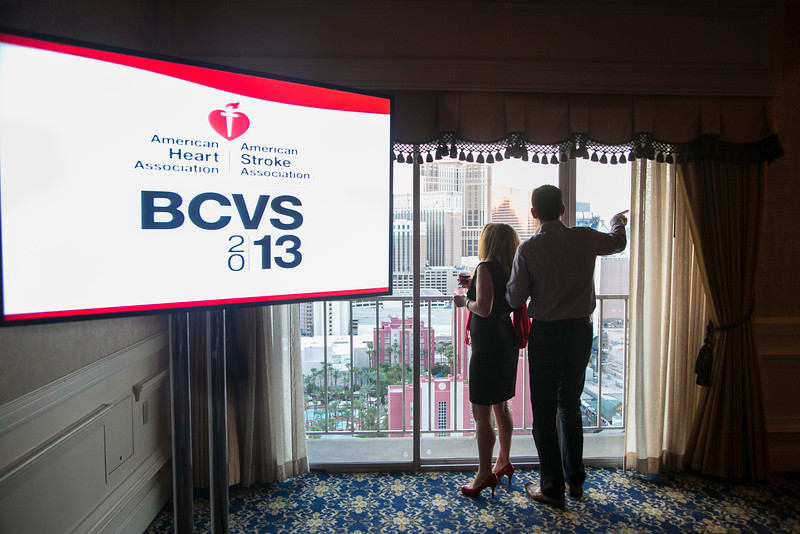 Las Vegas, NV - AHA BCVS 2013 : Attendees and Awardees at the BCVS Council Dinner   during the American Heart Association Basic Cardiovascular Sciences (BCVS) Meeting here today, Wednesday July 24, 2013.  Physicians, researchers and healthcare professionals gathered at the meeting which is being held at the Paris Hotel to improve understanding of mechanisms of basic cardiovascular regulation to support the development of new therapies and new insights into clinical cardiovascular disease. Photo by © AHA/Todd Buchanan 2013 Technical Questions: todd@medmeetingiamges.com