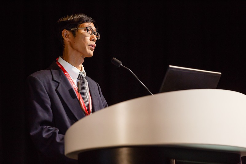 Marcus Ong during ReSS.19  Main Event Session: Epidemiology in Cardiac Arrest and Trauma