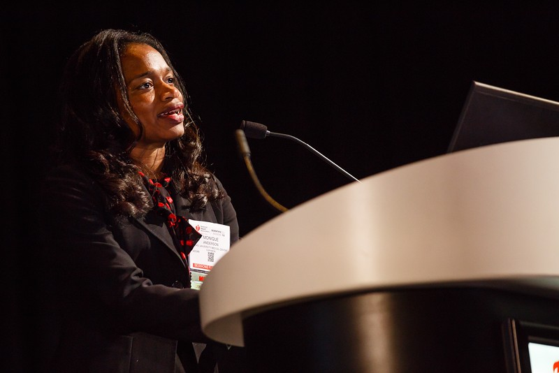 Monique Anderson during ReSS.19  Main Event Session: Epidemiology in Cardiac Arrest and Trauma