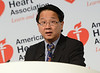 Dallas, TX - AHA 2013 Scientific Sessions - Horng Chen, M.D., speaks during Press Conference: Late Breaking Clinical Trials 3  here today, Monday November 18, 2013 during the American Heart Associations Scientific Sessions being held here at the Dallas Convention Center. Scientific Sessions is the leading cardiovascular meeting for basic, translational, clinical and population science, in the United States, with more 18,000 cardiovascular experts from more than 105 countries attending the meeting. Photo by © AHA/Phil McCarten 2013 Technical Questions: todd@medmeetingimages.com