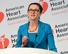 Dallas, TX - AHA 2013 Scientific Sessions - Margaret Redfield, M.D. speaks during Press Conference: Late Breaking Clinical Trials 3  here today, Monday November 18, 2013 during the American Heart Associations Scientific Sessions being held here at the Dallas Convention Center. Scientific Sessions is the leading cardiovascular meeting for basic, translational, clinical and population science, in the United States, with more 18,000 cardiovascular experts from more than 105 countries attending the meeting. Photo by © AHA/Phil McCarten 2013 Technical Questions: todd@medmeetingimages.com