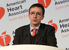 Dallas, TX - AHA 2013 Scientific Sessions - Giuseppe Boriani, M.D. speaks during Press Conference: Late Breaking Clinical Trials 3  here today, Monday November 18, 2013 during the American Heart Associations Scientific Sessions being held here at the Dallas Convention Center. Scientific Sessions is the leading cardiovascular meeting for basic, translational, clinical and population science, in the United States, with more 18,000 cardiovascular experts from more than 105 countries attending the meeting. Photo by © AHA/Phil McCarten 2013 Technical Questions: todd@medmeetingimages.com