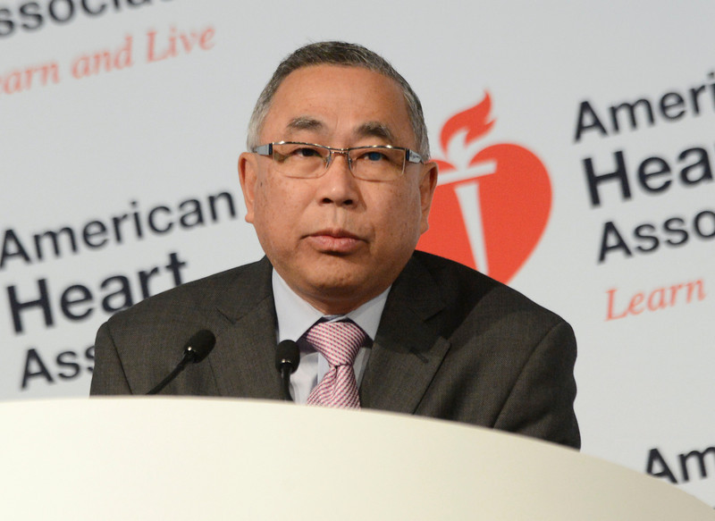 Dallas, TX - AHA 2013 Scientific Sessions - Anthony Tang, M.D. speaks during Press Conference: Late Breaking Clinical Trials 3  here today, Monday November 18, 2013 during the American Heart Associations Scientific Sessions being held here at the Dallas Convention Center. Scientific Sessions is the leading cardiovascular meeting for basic, translational, clinical and population science, in the United States, with more 18,000 cardiovascular experts from more than 105 countries attending the meeting. Photo by © AHA/Phil McCarten 2013 Technical Questions: todd@medmeetingimages.com