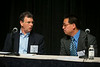 Las Vegas, NV - AHA 2014 BCVS - Xiongwen Chen, PhD, & Robert Ross, MD, Session chairs   during Session 1:  New Twists on Signaling Mechanisms in the Heart here today, Monday July 14, 2014 during the American Heart Association's Basic Cardiovascular Sciences Sessions (BCVS) being held here at the Paris Hotel in Las Vegas. Photo by © AHA/Todd Buchanan 2014 Technical Questions: todd@medmeetingimages.com