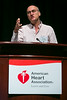 Las Vegas, NV - AHA 2014 BCVS - Martin Vila Petroff, PhD, discusses Exploring CaMKII Signaling in Myocardial Hypertrophy during Session 1:  New Twists on Signaling Mechanisms in the Heart here today, Monday July 14, 2014 during the American Heart Association's Basic Cardiovascular Sciences Sessions (BCVS) being held here at the Paris Hotel in Las Vegas. Photo by © AHA/Todd Buchanan 2014 Technical Questions: todd@medmeetingimages.com