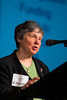 San Francisco, CA - AHA 2014 EPI/NPAM - L. Adrienne Cupples, MD, gives the Richard D. Remington Methodology Lecture: Genetics and Heart Disease Risk during the Genetics session here today, Friday March 21, 2014 at the American Heart Associations EPI/NPAM Sessions being held here at the San Francisco Hilton. Over 750 attendees discussed the latest lifestyle research in cardiovascular health. Photo by © AHA/Todd Buchanan 2014 Technical Questions: todd@medmeetingimages.com