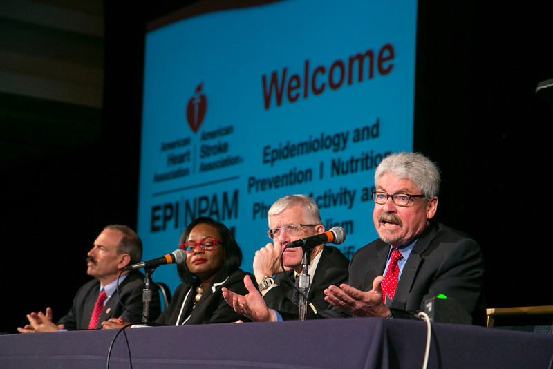 San Francisco, CA - AHA 2014 EPI/NPAM - Panelists speak during a panel discussion  here today, Wednesday March 19, 2014 at the American Heart Associations EPI/NPAM Sessions being held here at the San Francisco Hilton. Over 750 attendees discussed the latest lifestyle research in cardiovascular health. Photo by © AHA/Todd Buchanan 2014 Technical Questions: todd@medmeetingimages.com