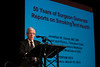 "San Francisco, CA - AHA 2014 EPI/NPAM - Jonathan M. Samet, MD discusses ""The 50th Anniversary of the Surgeon General's Report on Tobacco"" during the Oral Session: ""AHA 2020 Goals: Cardiovascular Health for All Americans"" here today, Wednesday March 19, 2014 during the American Heart Associations EPI/NPAM Sessions being held here at the San Francisco Hilton. Over 750 attendees discussed the latest lifestyle research in cardiovascular health. Photo by © AHA/Todd Buchanan 2014 Technical Questions: todd@medmeetingimages.com"