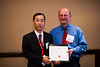 Dallas, TX - AHA 2013 Scientific Sessions - : :  Dr. Masato Tsutsui accepts his award at The ATVB Journal Editorial Board Dinner on Sunday November 17, 2013 during the American Heart Associations Scientific Sessions being held here at the Dallas Convention Center. Scientific Sessions is the leading cardiovascular meeting for basic, translational, clinical and population science, in the United States, with more 18,000 cardiovascular experts from more than 105 countries attending the meeting. Photo by © AHA/Brian Powers 2013 Technical Questions: todd@medmeetingimages.com