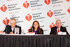 Chicago, IL - AHA 2014 Scientific Sessions - Attendees and speakers at Embargoed Media Briefing here today, Wednesday November 19, 2014 during the American Heart Associations Scientific Sessions being held here at the McCormick Convention Center. Scientific Sessions is the leading cardiovascular meeting for basic, translational, clinical and population science, in the United States, with more than 18,000 cardiovascular experts from over 105 countries attending the meeting. Photo by © AHA/Danny Morton 2014 Technical Questions: todd@medmeetingimages.com