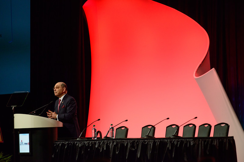 """Nashville, TN - ISC 2015 - """"Attendees, speakers and awardees """" during Opening Session (Pleanary Session I) at the International Stroke Conference at the Music City Center here today, Wednesday February 11, 2015.  The conference is the premier meeting on the science and treatment of cerebrovascular disease from basic research to patient-based studies to larger clinical trials and population analyses in the United States. More than 4,000  experts from around the world are attending the meeting.  Photo by © AHA/Brian Powers 2015"""