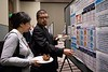 Attendees here during Poster Session and Reception