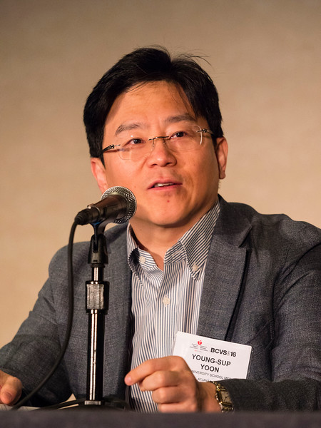 Young-sup Yoon, MD, PhD, FAHA, moderator, speaks at BCVS 2016