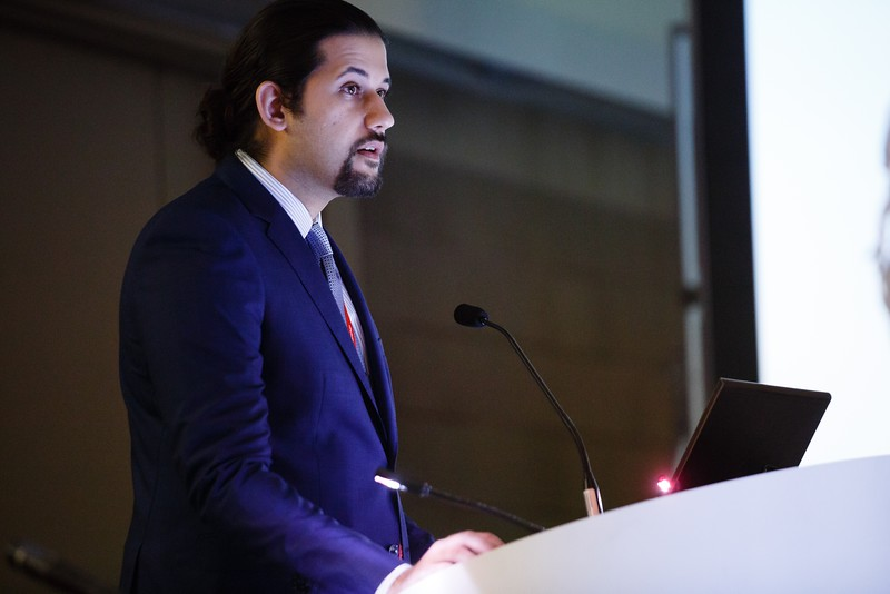 Abdulhamie Alfaddagh during Councils:Lifestyle Young Investigator Awards