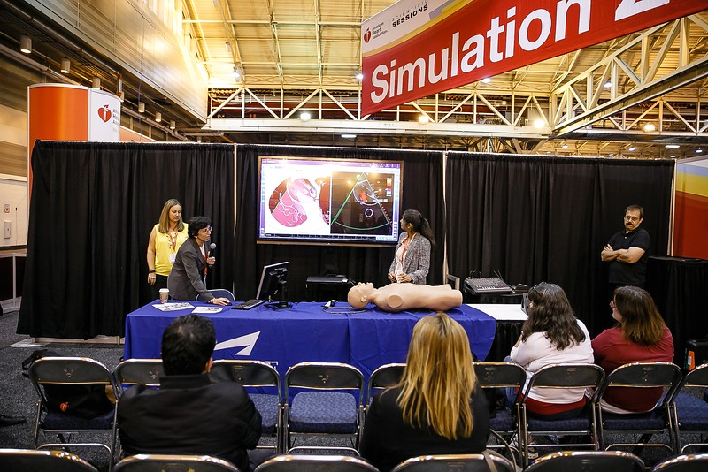 The Simulation Zone setup during Symposiums Special Sessions/ Meetings:Simulation Zone - Vimedix/Ultrasound- Vimedix Echocardiography: Simulation II
