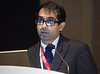 Udhay Krishnan, MD during Abstract 15114 - Temporal Trends and Outcomes of Patients Undergoing Percutaneous Coronary Intervention for Cardiogenic Shock in the Setting of Acute Myocardial Infarction in the United States; Udhay Krishnan, MD