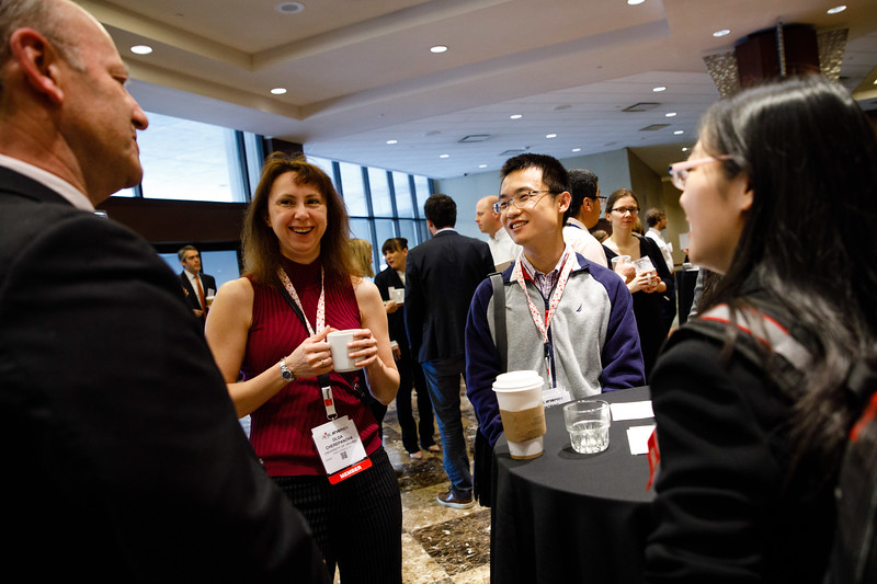 Attendees talk during Early Career Sessions