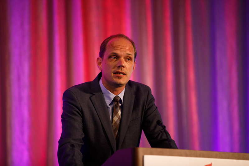 Dennis Wolf speaks during Plenary Session IV