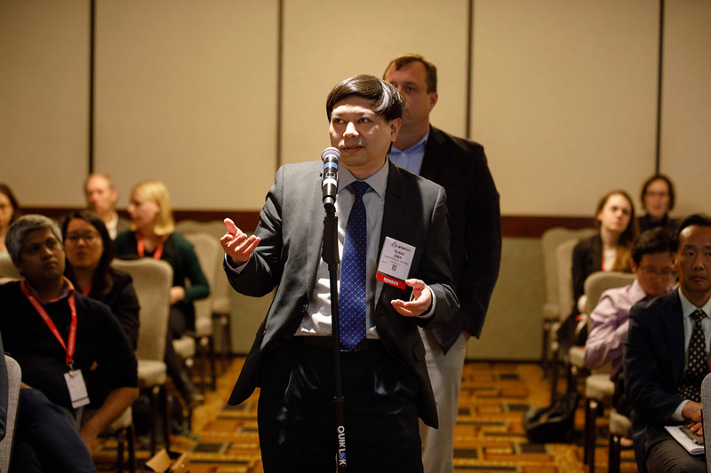 Attendees ask questions during Concurrent IV session