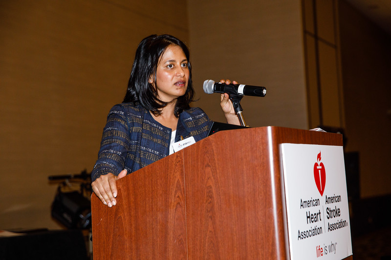 Aruna Pradhan speaks during Council Dinner
