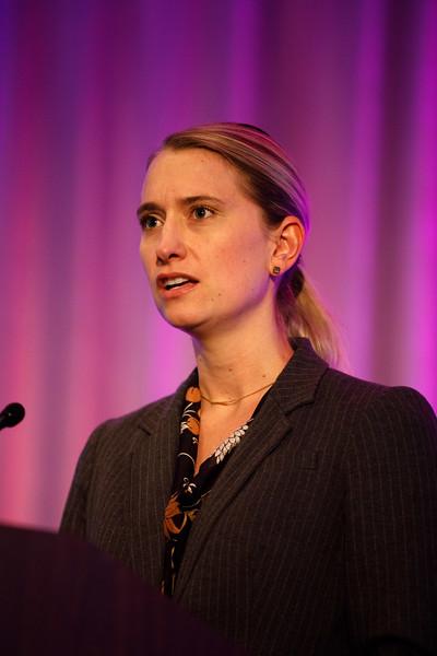 Casey Romanoski speaks during Plenary Session IV