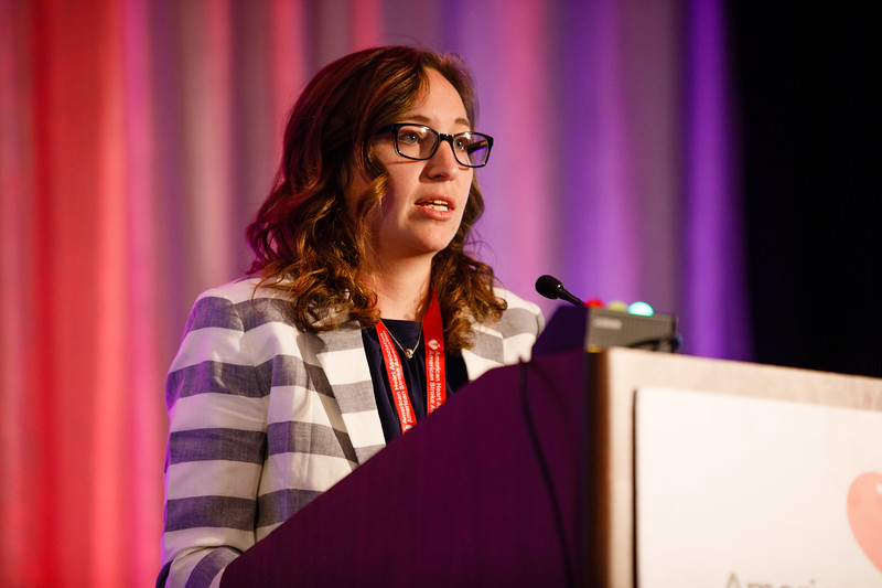 "Allison Herman presents ""FXR1 Regulates Inflammatory MRNA Stability and VSMC Proliferation by Modulation of HuR Activity"" during Concurrent IV session"