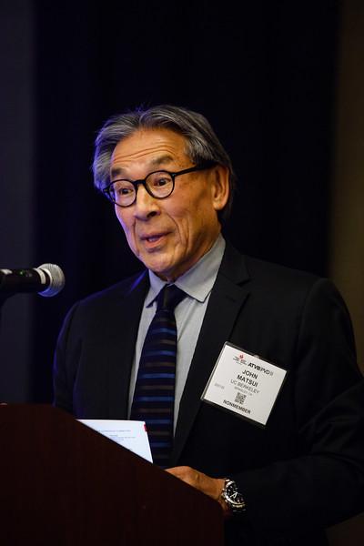 John Matsui speaks during Mentor of Women Luncheon