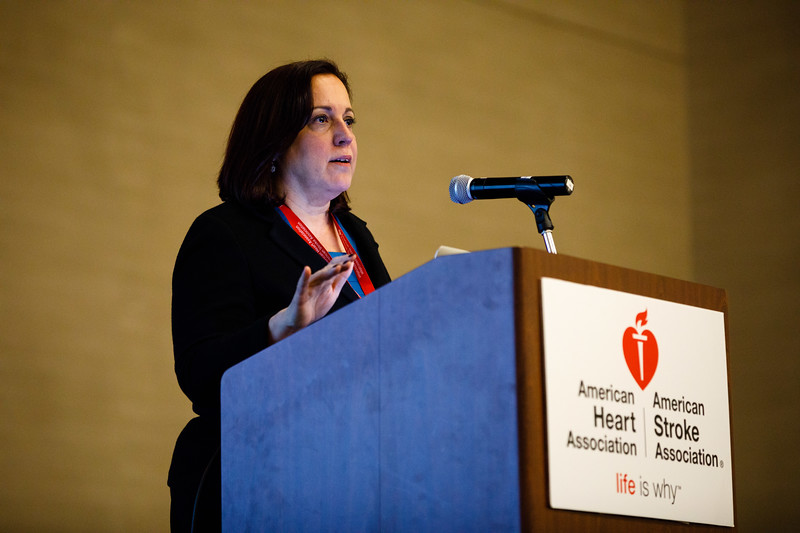 Annabelle Rodriguez, MD, FAHA, speaks during Mentor of Women Luncheon