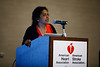 Vasanthy Narayanaswami, PhD, speaks during Mentor of Women Luncheon
