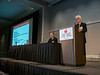 Robert Ross, PhD, FACSM, FAHA speaks during the Opening session