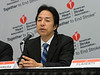 Shinichi Yoshimura discusses Randomized Controlled Trial of Early versus Delayed Statin Therapy in Patients With Acute Ischemic Stroke during the Friday morning Press Briefing