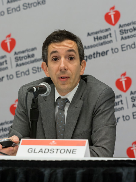 David J. Gladstone discusses Randomized Trial of Hemostatic Therapy for 'Spot Sign' Positive Intracerebral Hemorrhage: Primary Results From the SPOTLIGHT/STOP-IT Study Collaboration during the Friday morning Press Briefing