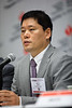 Sun Kwon, MD, PhD, speaks during the Featured News Conference