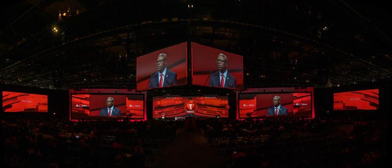 AHA President Ivor Benajmin speaks during Conner Presidential Address
